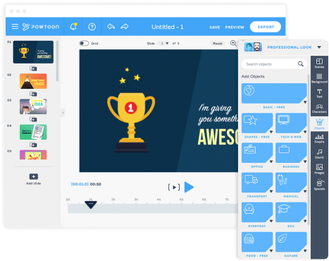 PowToon Animated Video Maker, best restricted free license Animated Video Maker