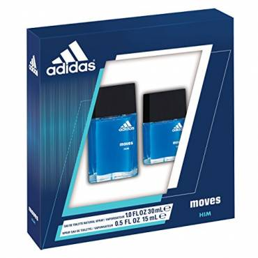 Adidas Moves by Coty for Men 2 Piece Set, Enjoy staying active and experiencing each day to the fullest.