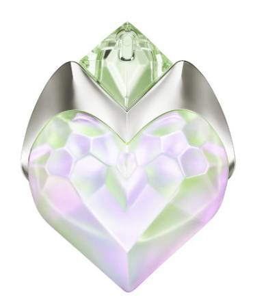 AURA MUGLER SENSUELLE Eau De Parfum, The heart-shaped bottle is a true piece of art, with pink and green colours dancing beautifully together.