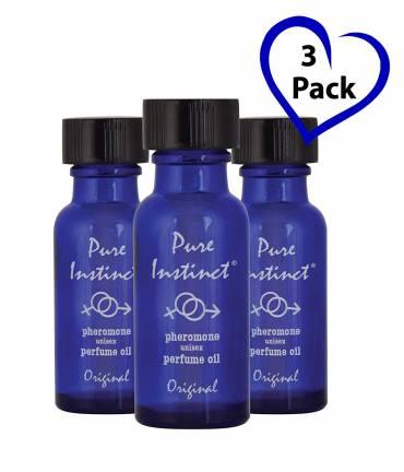 Pure Instinct (3-Pack), The Original Pheromone Infused Essential Oil