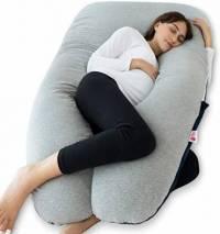 Meiz U-Shaped Full Body Pregnancy Pillow with Velvet Cover